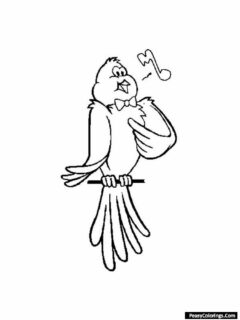magic canary coloring pages