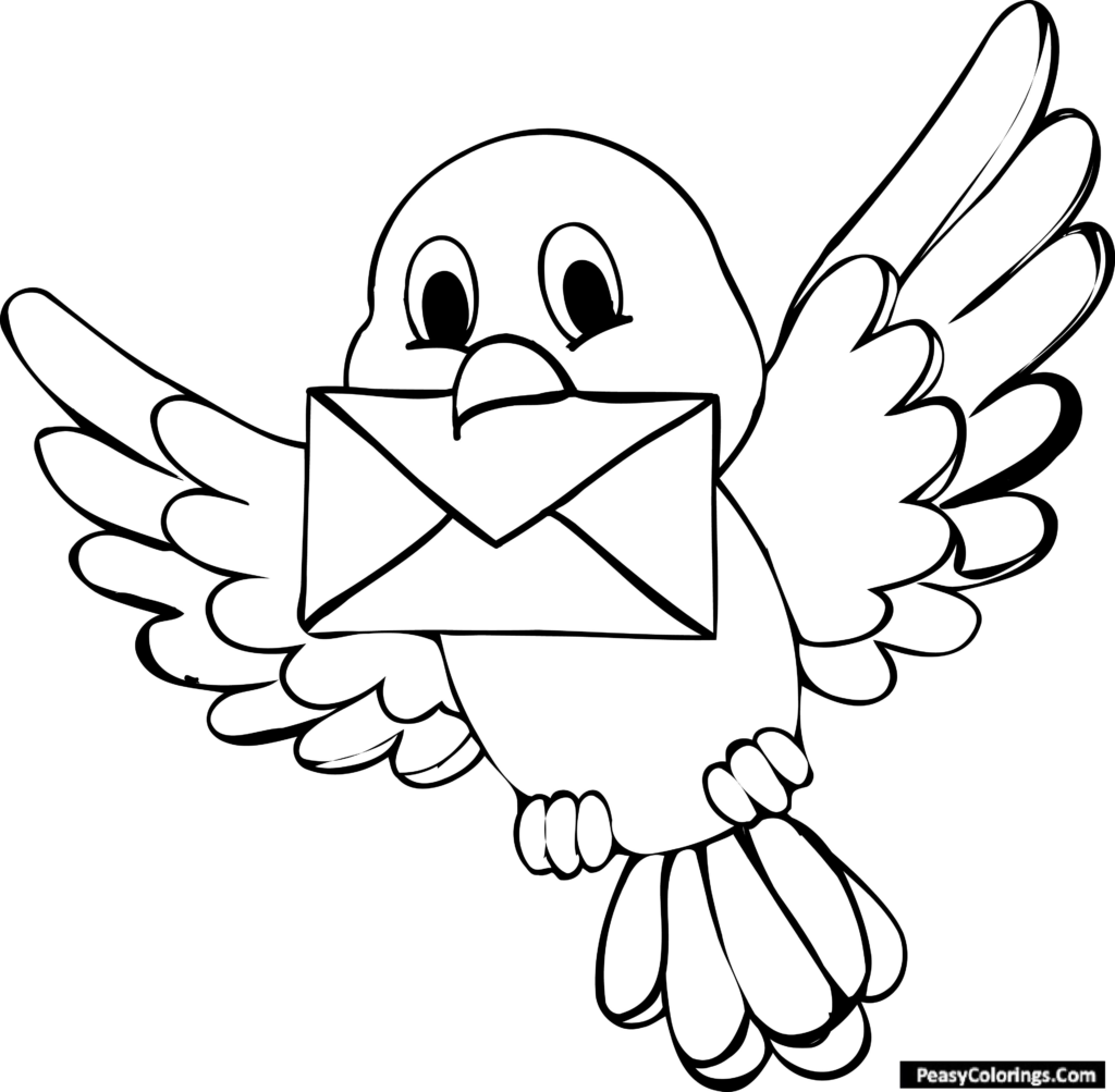 blubird coloring pages