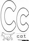 leeter c coloring pages