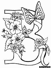 b coloring pages