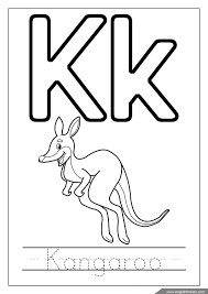 Letter K coloring page