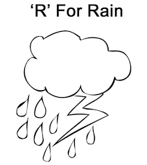 Lettter R Coloring page