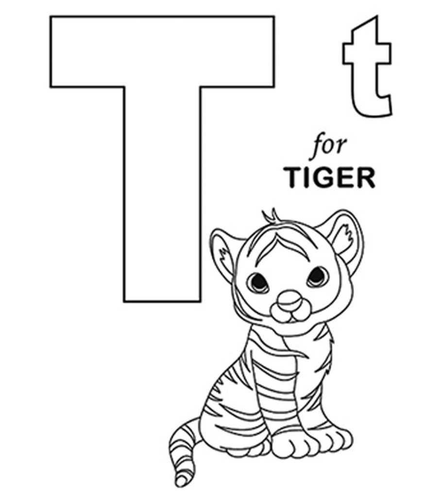Letter T coloring page