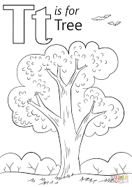 Leeter T coloring page