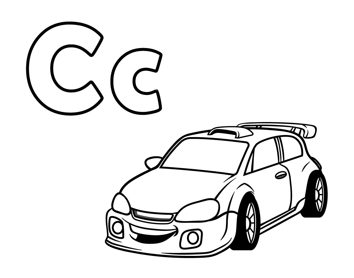 c-for-car-coloring-page-1